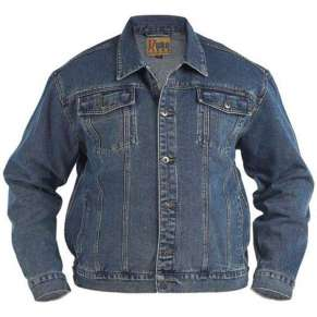 STONEWASH BLUE WESTERN STYLE DENIM JACKET by Kam & Duke