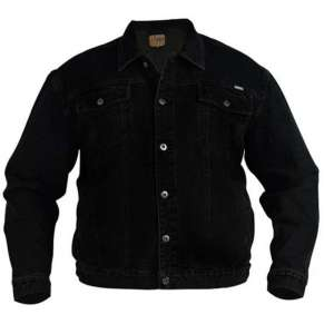 KS-1304 BLACK WESTERN STYLE TRUCKER DENIM JACKET by DUKE