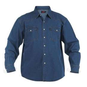 KS-1024 STONEWASH BLUE WESTERN STYLE DENIM SHIRT by DUKE