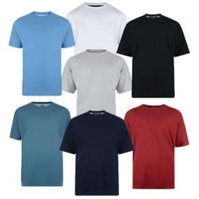 PLAIN BASIC ROUND NECK TEE-SHIRTS - TWIN-PACK