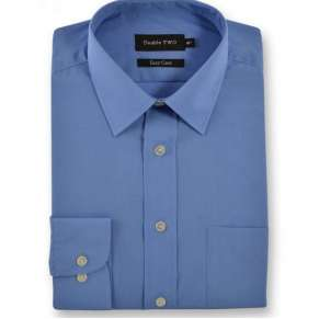 EXTRA TALL FIT CORNFLOWER BLUE SHIRT By Double Two