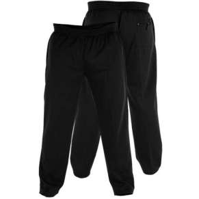 "(KS1418) KING-SIZE BLACK JOGGERS (2xl up to 8xl"") by DUKE - 3 pairs"
