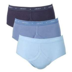 "3 PACK 'Y' FRONT STYLE BRIEFS by JOCKEY (3 SHADES OF BLUE) 32"" up to 46"""