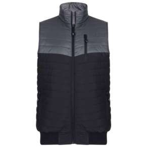 BLACK PADDED BODYWARMER By Kam