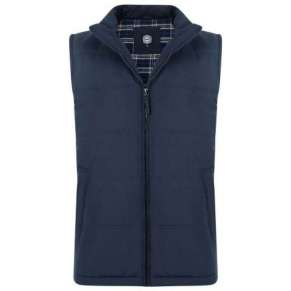 NAVY PADDED BODYWARMER By Kam