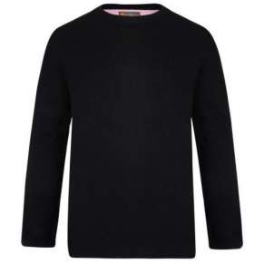 BLACK CREW NECK PULLOVER By Kam
