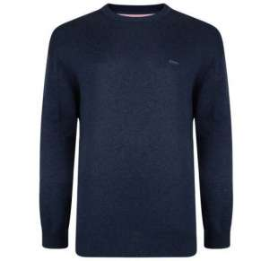 NAVY CREW NECK PULLOVER By Kam