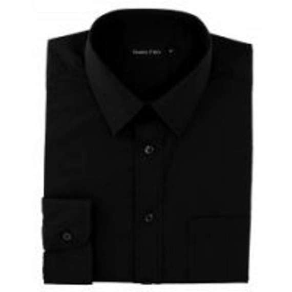 EXTRA TALL FIT BLACK SHIRT By Double Two