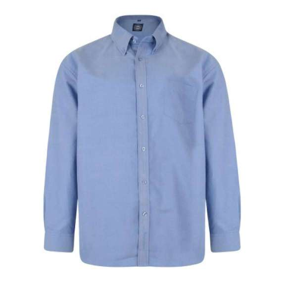 BLUE LONG SLEEVED OXFORD SHIRT by KAM