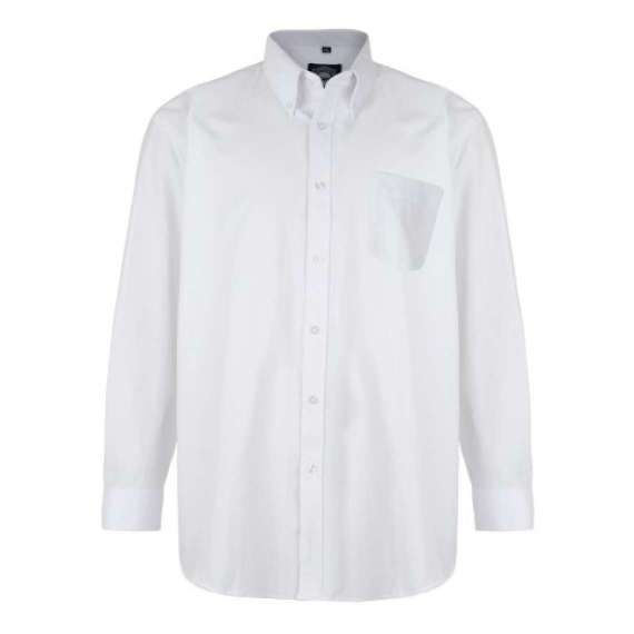 WHITE LONG SLEEVED OXFORD SHIRT by KAM