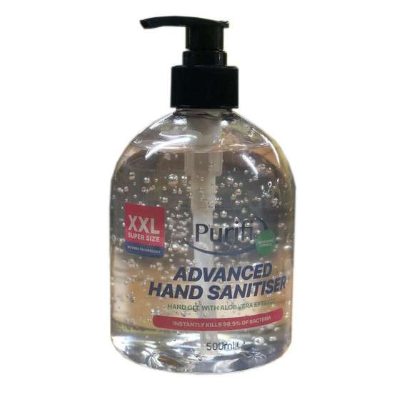 Alcohol Hand Sanitiser 500 ml bottle with hand pump